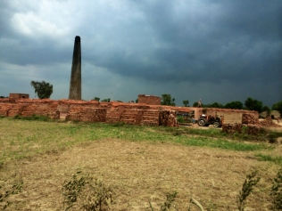 Brick kilns dotting the Lahore, Kasur rural periphery